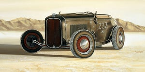 Image of Salt Flats Roadster / Giclee Canvas Wrap