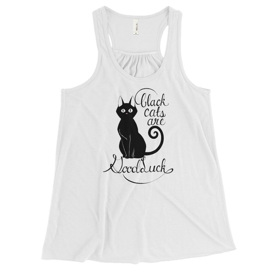 Image of BLACK CATS ARE GOOD LUCK- WOMEN'S TANK