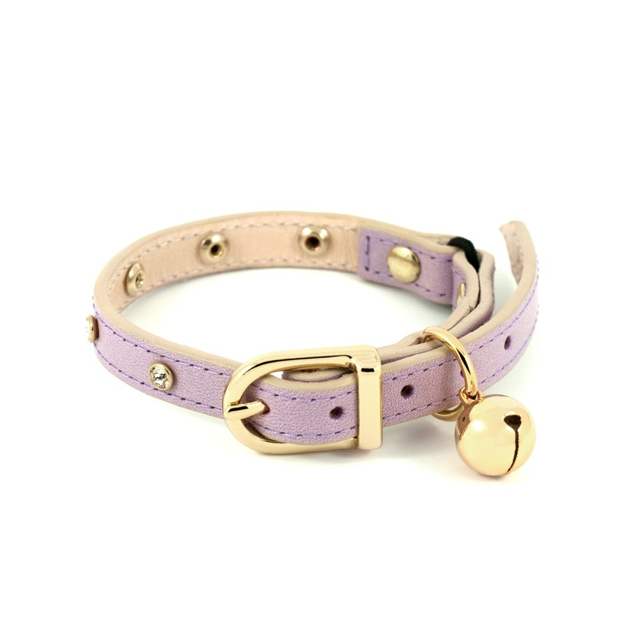 Image of CRYSTAL CAT COLLAR (LILAC)
