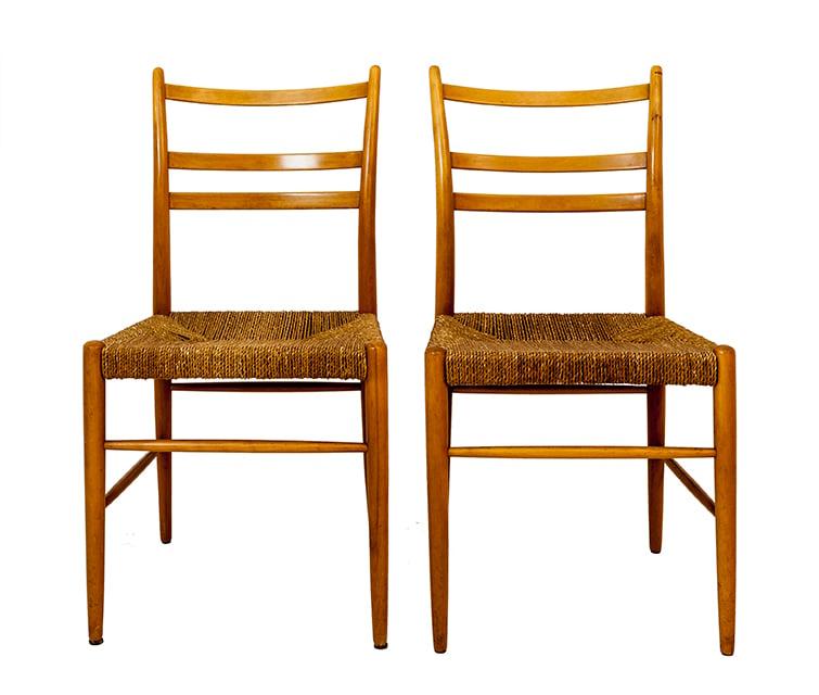 """Image of Juego de 6 sillas """"Gracell"""" / Suecia / años 50."""