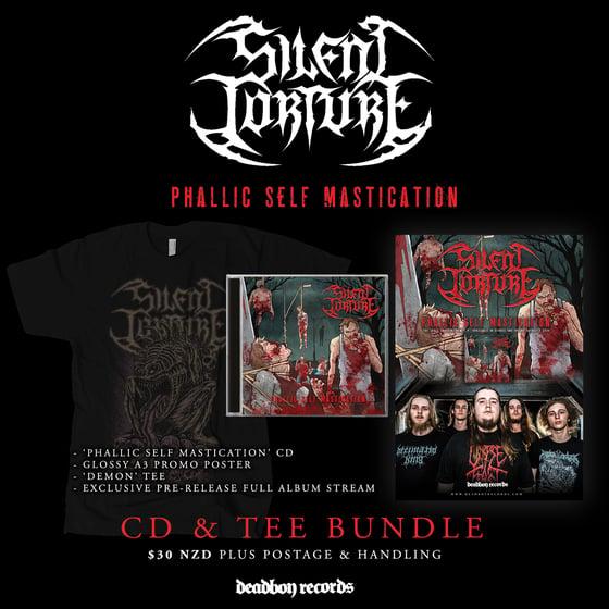 Image of Silent Torture 'Phallic Self Mastication' CD & Tee Bundle