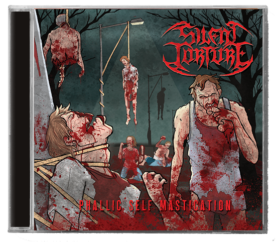 Image of Silent Torture 'Phallic Self Mastication' CD & Tee Bundle