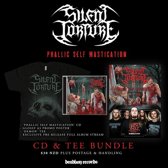 Image of Silent Torture 'Phallic Self Mastication' CD & Tee Bundle 2