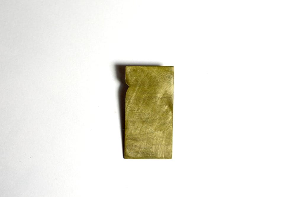 Image of Beach bottom pendant shibuichi