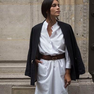 Robe Mila Blanche  - Maison Brunet Paris