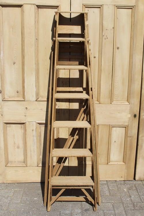 Image of Vintage Pine lattice step ladders