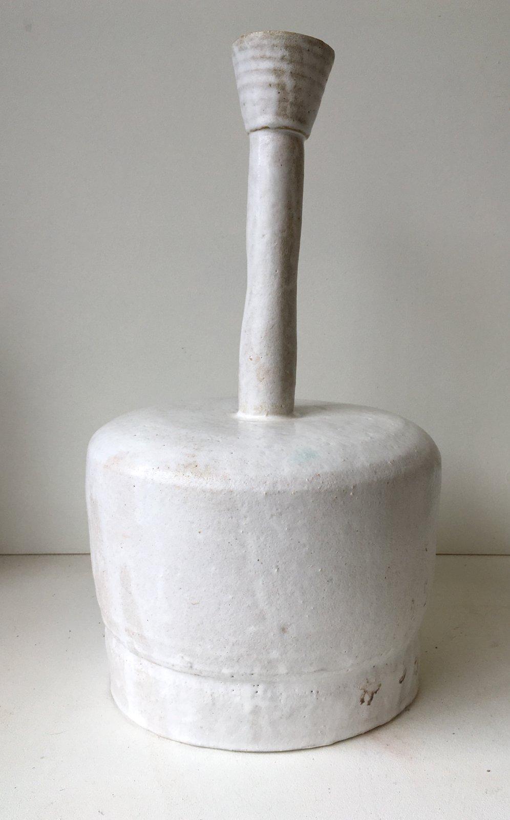 Image of Large White Bottle with Long Neck
