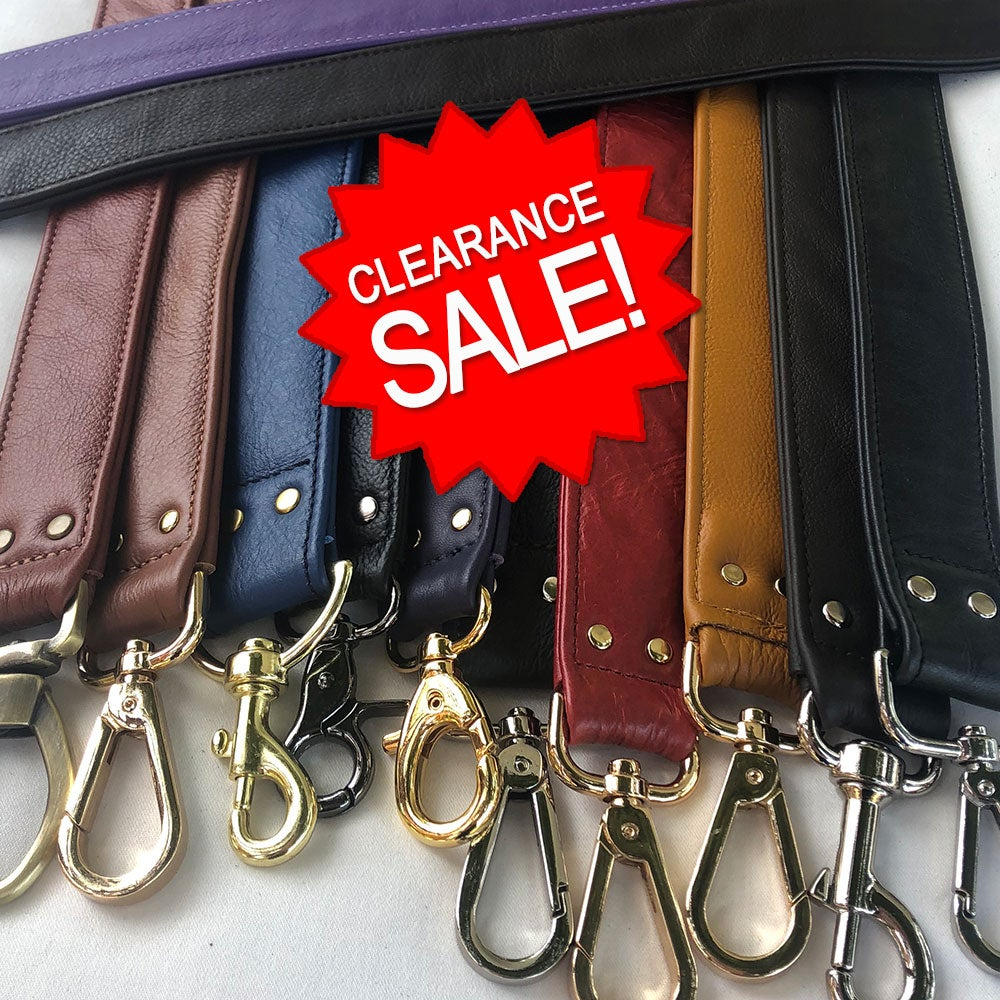 """Image of Clearance Sale - Genuine Leather Straps - 1.5"""" (inch) Wide Width - Your Choice - Limited Inventory"""