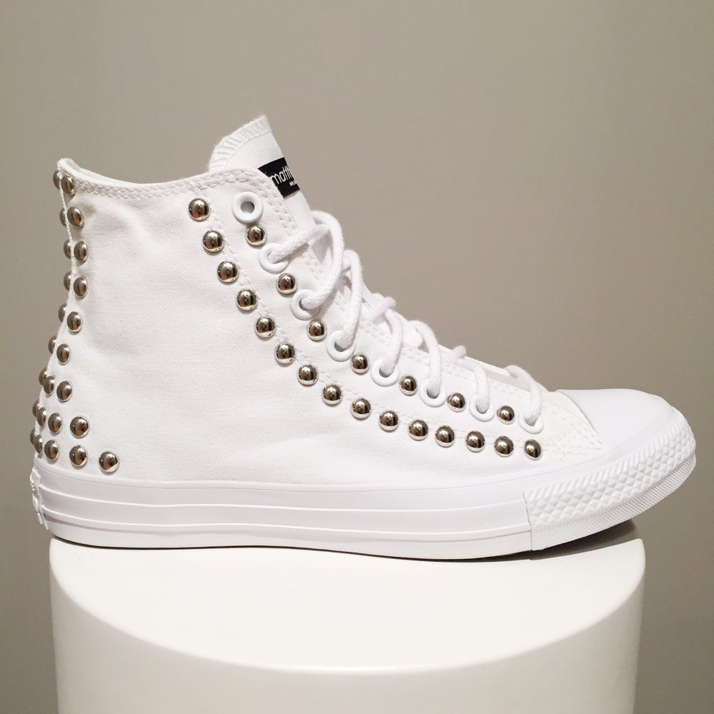 Image of Converse All Star Monochrome - Silver Studs.