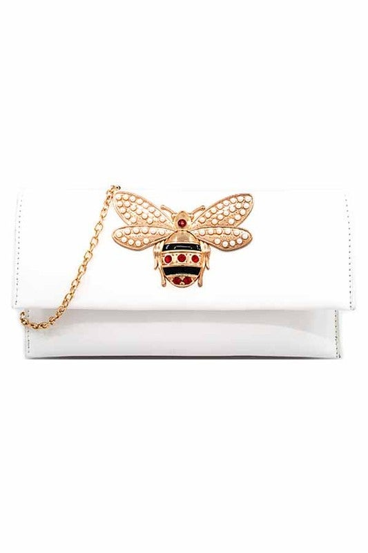 Image of Rhinestone Bee Clutch