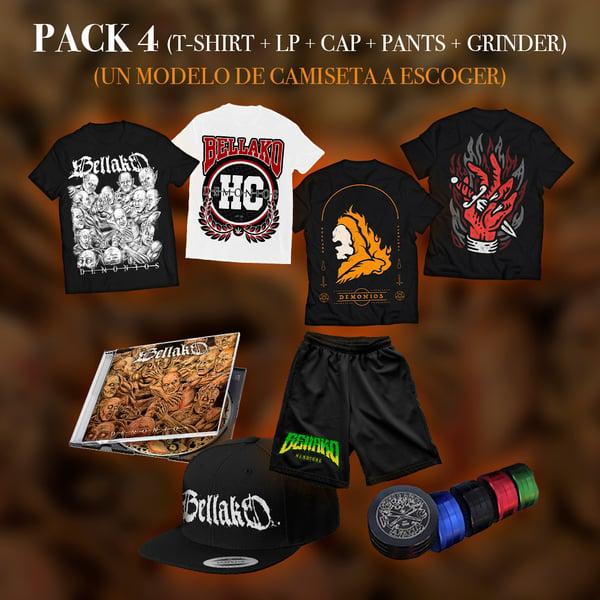 Image of Pack 4 [T-Shirt + LP + Cap + Pants + Grinder]