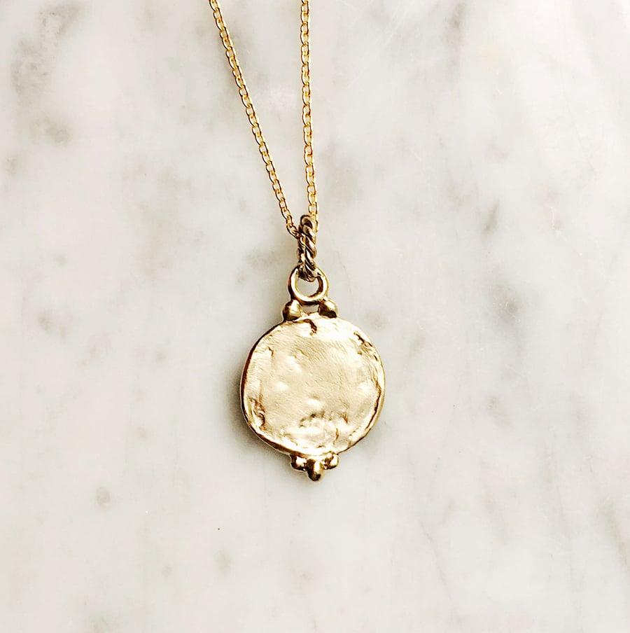 Image of Medallion Pendant Necklace