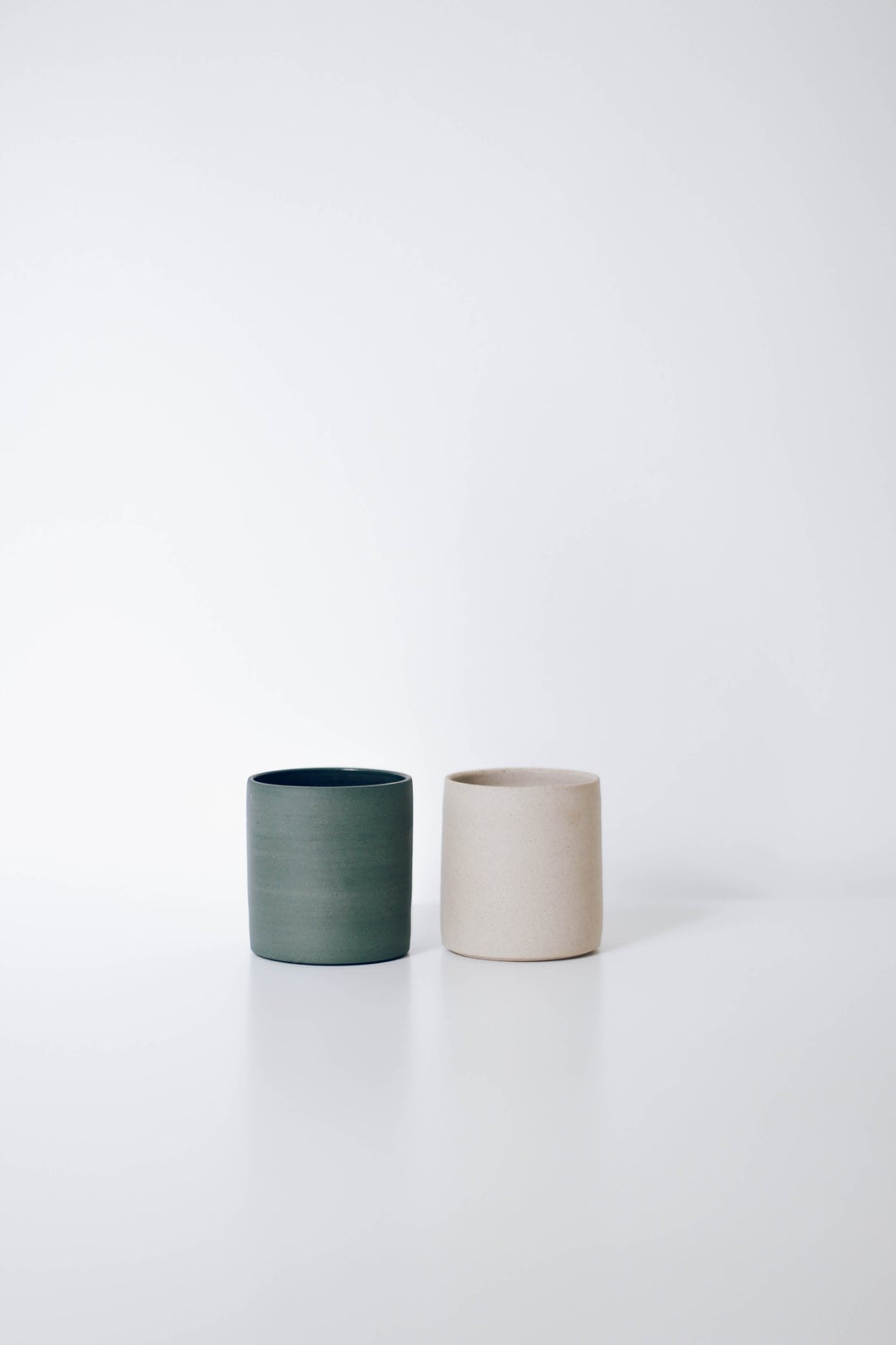 Image of Teal + White Tumbler Set