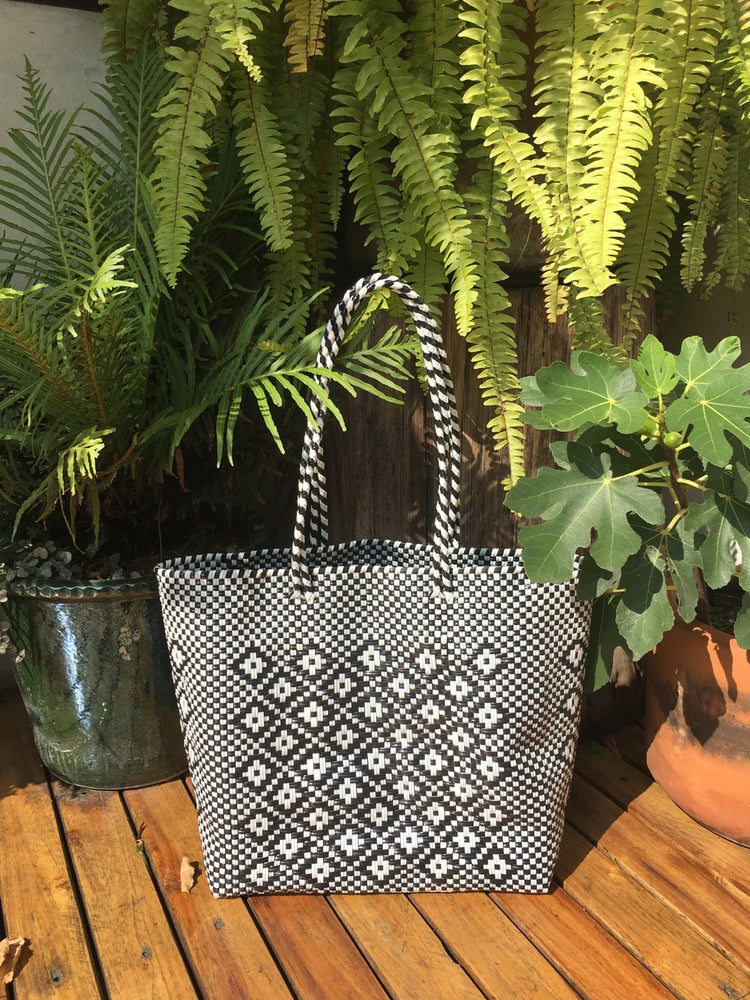 Image of •wodi• woven bags: (tote + box satchel)