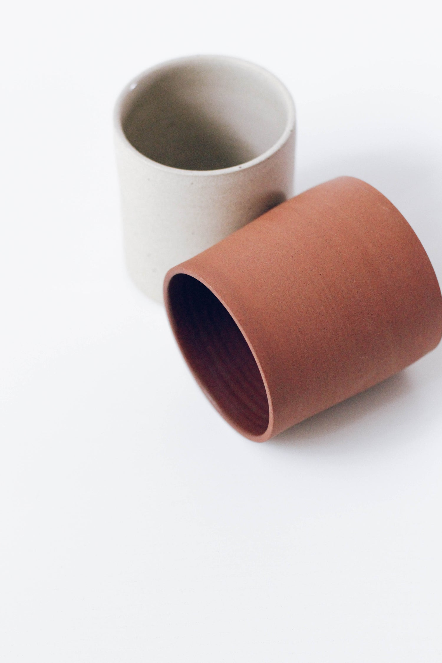 Image of Terracotta + White Tumbler Set