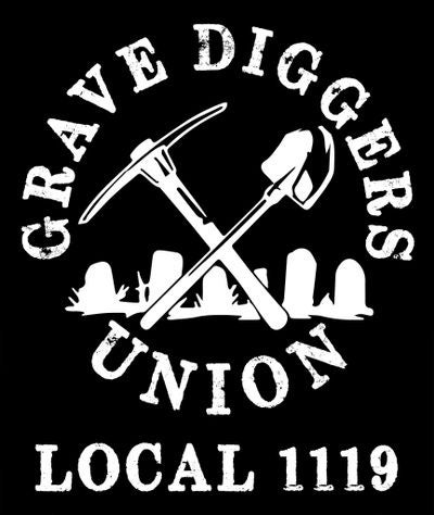 Image of 3X4 GRAVE DIGGERS UNION DECAL