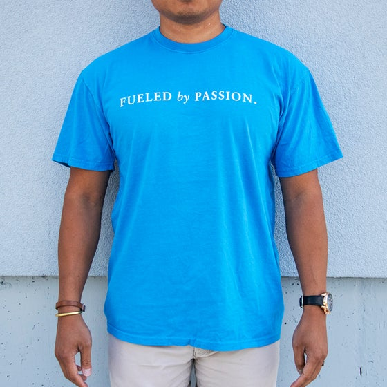 Image of The Modern Motto Tee - Premium Dynamic Blue