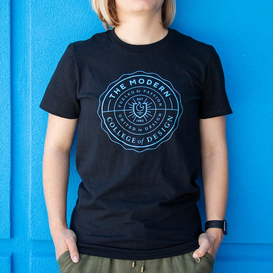 Image of Dynamic Blue Seal Tee - Black