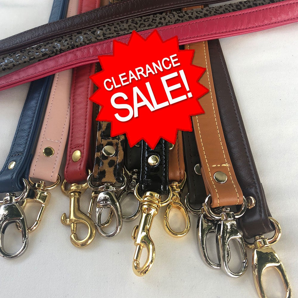 "Image of Clearance Sale - Genuine Leather Straps - 0.75"" (inch) Width - Your Choice - Limited Inventory"