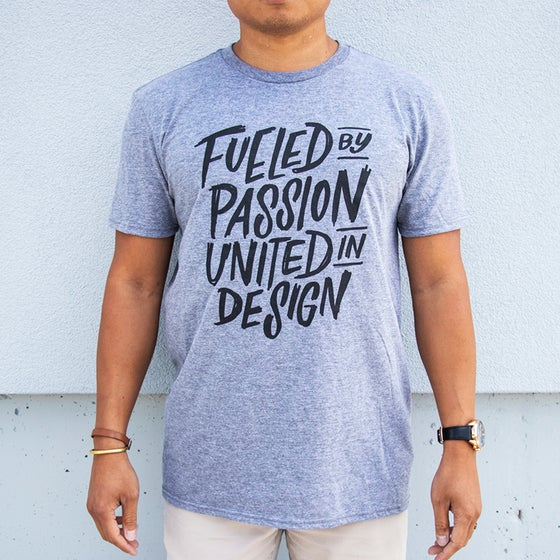 Image of The Modern Motto Lettering Tee - Heather Grey