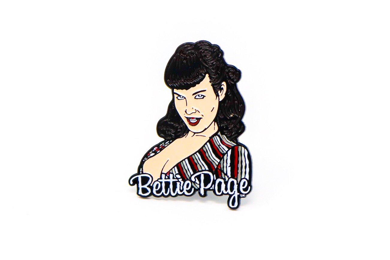 Image of Bettie Page 2 Enamel Pin