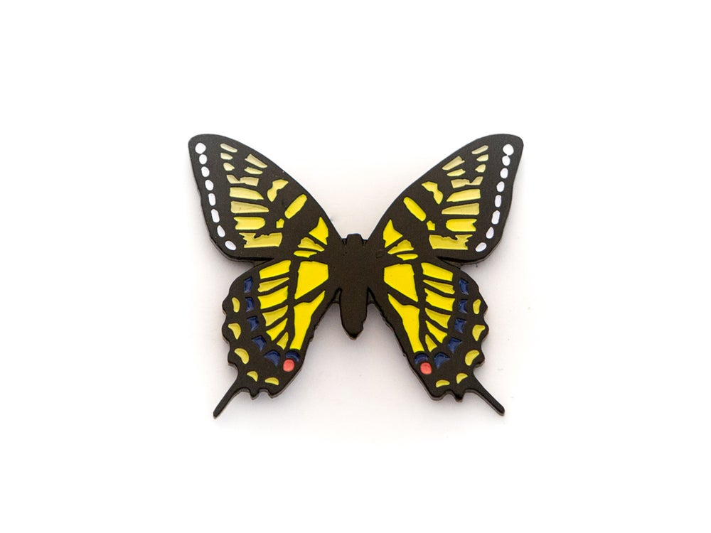 Image of Swallowtail Butterfly Enamel Pin