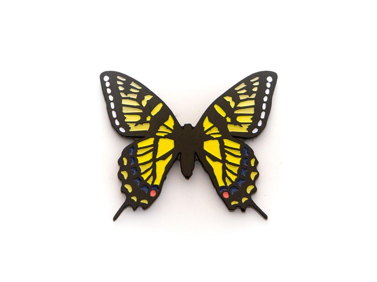 Image of Swallowtail Butterfly Enamel Pin