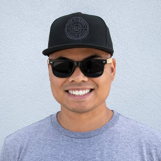 Image of The Modern Seal Snapback Hat - Black on Black
