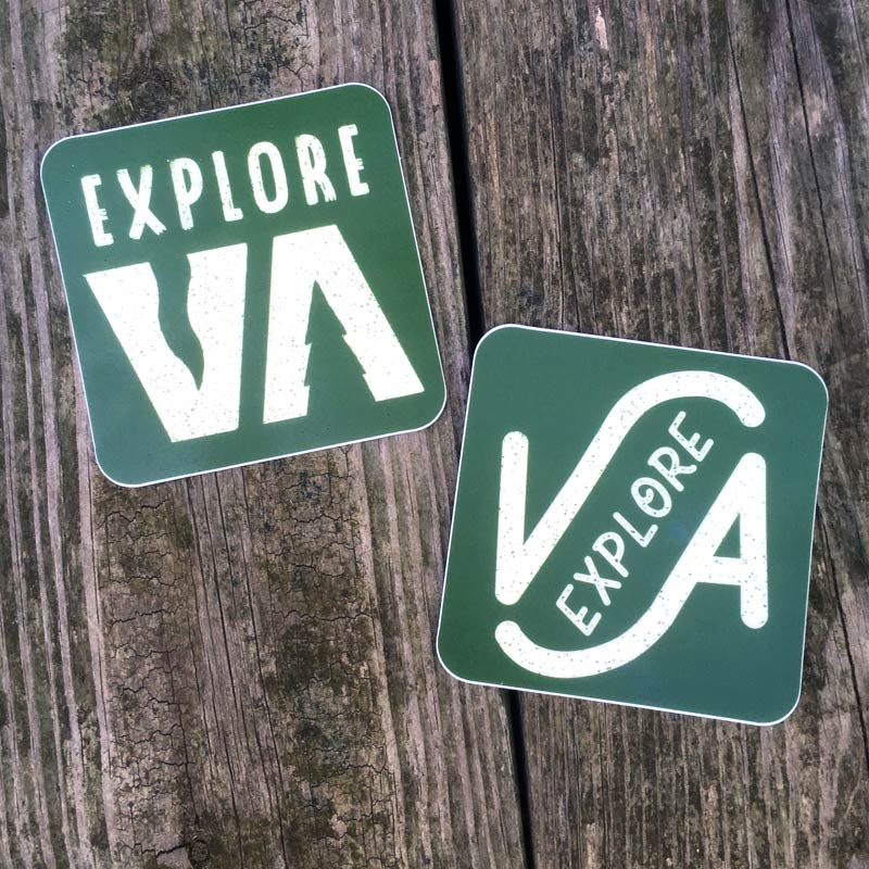 "Image of ""Explore Virginia"" stickers"