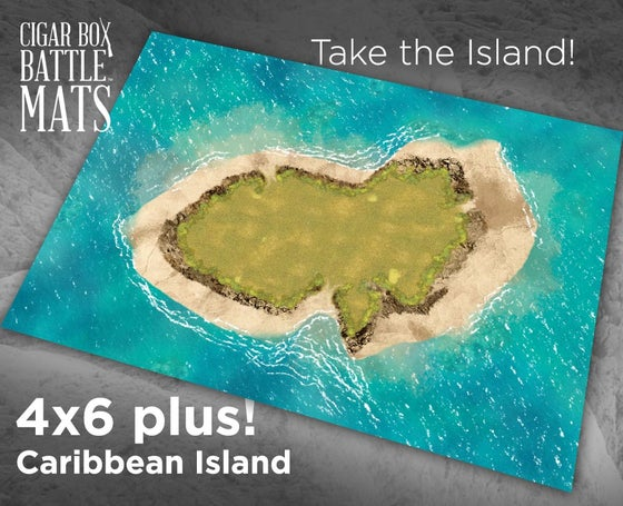 Image of Caribbean Island -- 4x6plus -- #700