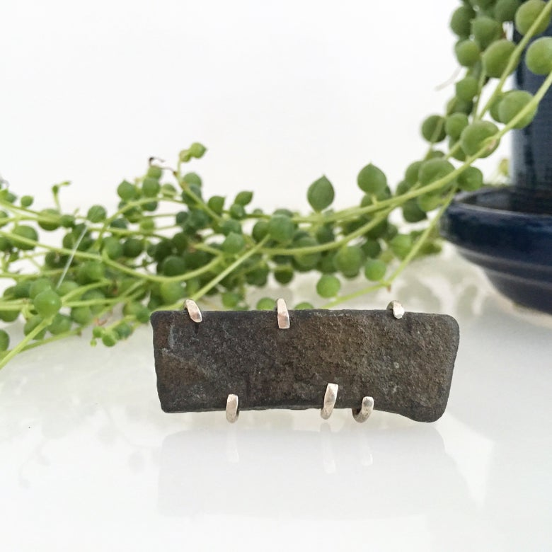 Image of SALE!! long river rock ring