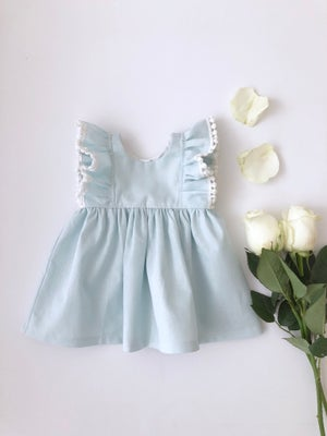 Image of Pale blue linen Kelsey dress