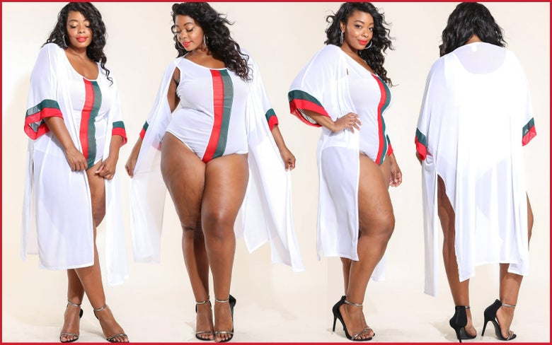 Image of PLUS SIZE 2 PIECE