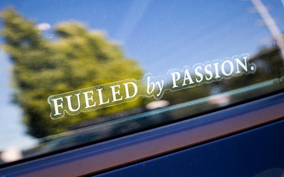 Image of Fueled By Passion Car Decal