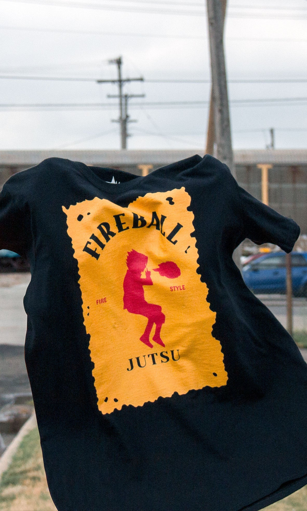 Image of Sasuke Fireball Jutsu Shirt (Limited Time)