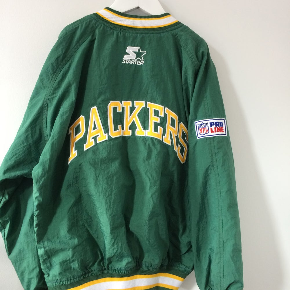 Image of Vintage Starter Proline Packers Pullover Jacket Youth Small