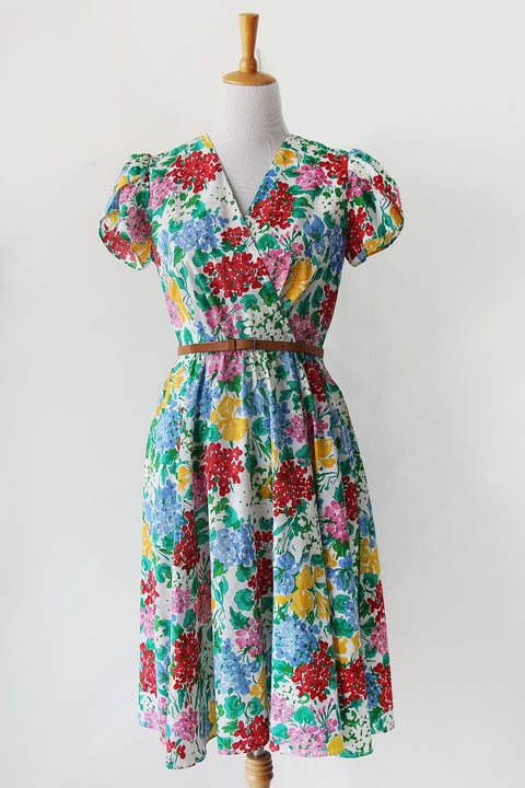 Image of SOLD Rainbow Garden Of Flowers Dress