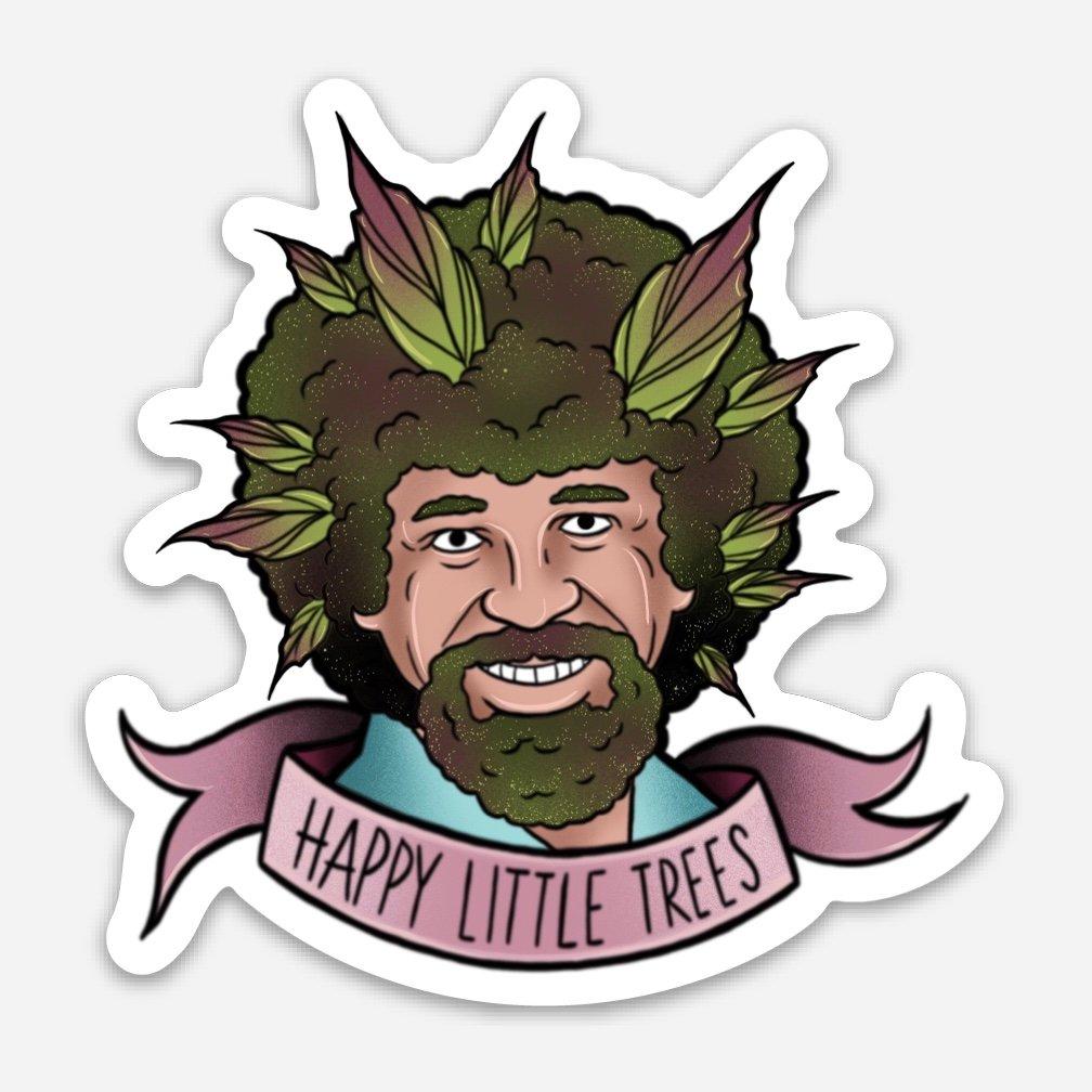 happy little trees - 1008×1008