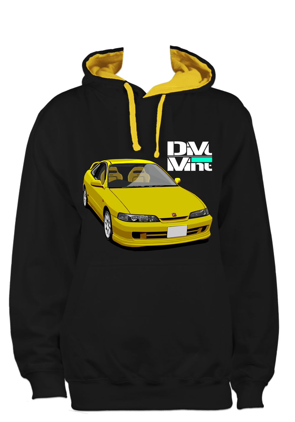 Image of Custom Yellow ITR hoodie.