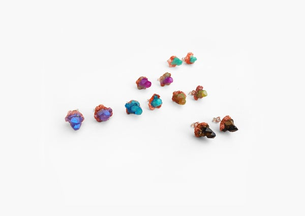 Image of DESERT CRYSTAL CLUSTER STUDS - Heavenly Bodies