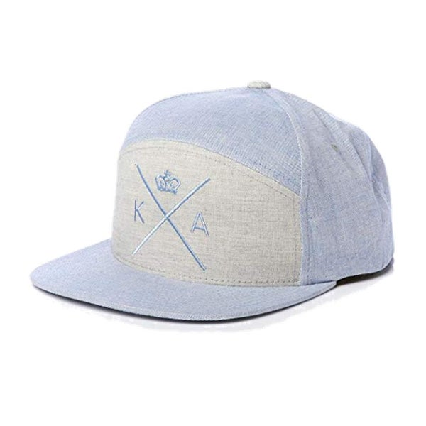 Image of KING APPAREL BLUE INSIGNIA 6 PANEL STARTER SNAPBACK CAP