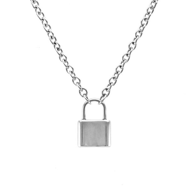 Image of Love Lock Padlock necklace