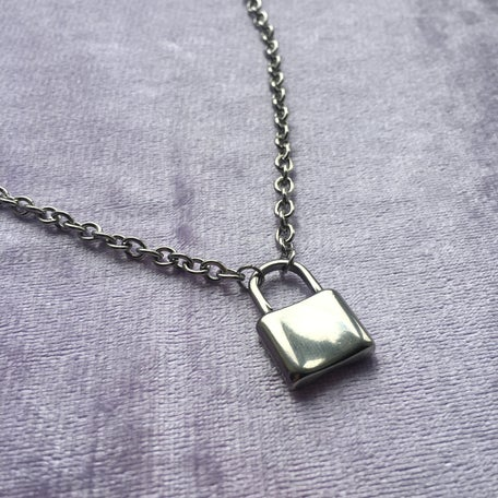 Image of Love Lock Padlock necklace