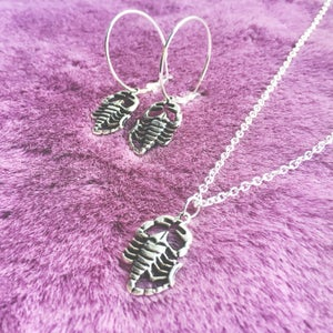 Image of Scorpion necklace and earring set