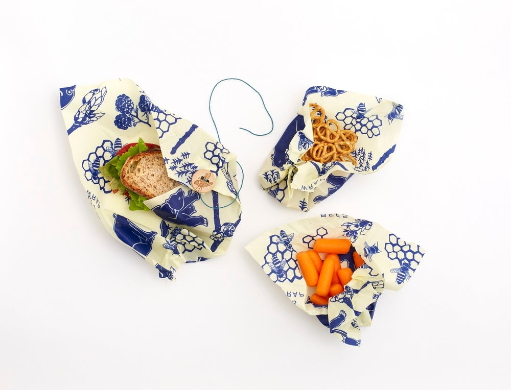 Image of MadpakkeSæt - Beeswrap med sandwichwrap og 2 x medium wraps