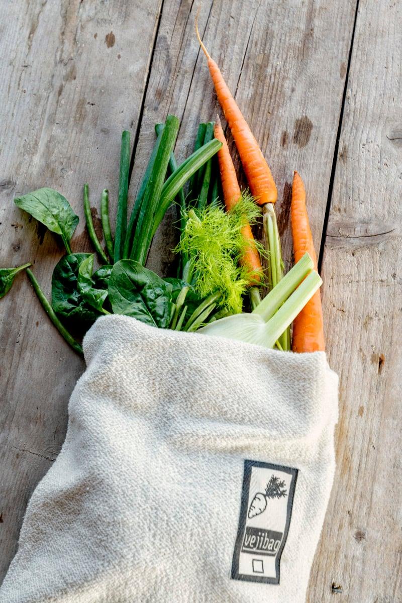 Image of Vejibag - Long. Opbevar dine grøntsager på køl uden plastik.