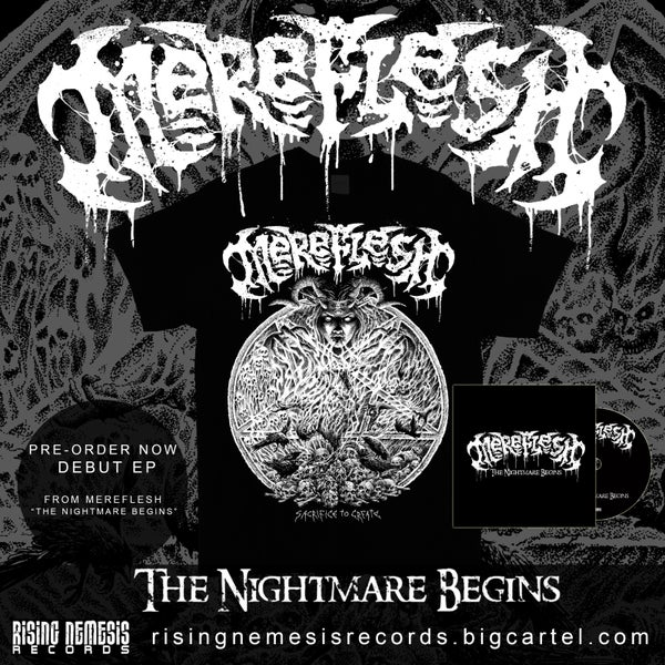 Image of MEREFLESH - The Nightmare Begins T-Shirt (optional + CD)