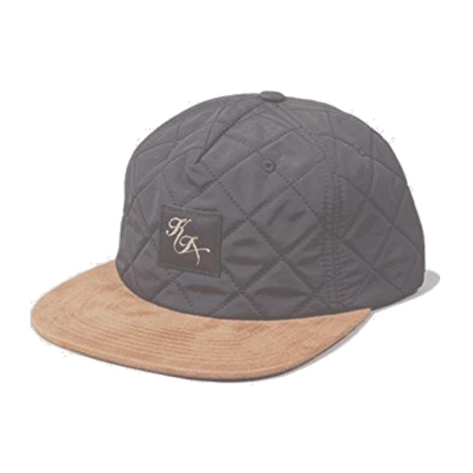Image of KING APPAREL BLACK LEGACY PINCH PANEL QUILTED CAP