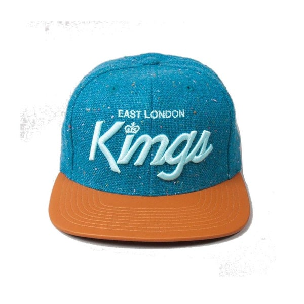 Image of KING APPAREL BLUE E.L.K SCRIPT STRAPBACK CAP