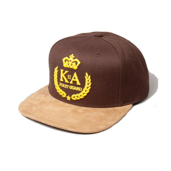 Image of KING APPAREL BROWN FIRST GUARD SNAPBACK CAP